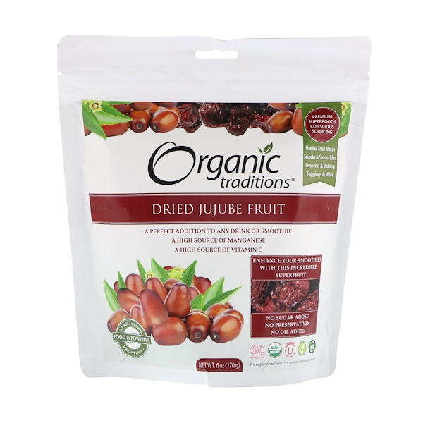 Dried Jujube Fruit, 6 oz (170 g)