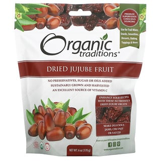 Organic Traditions, Dried Jujube Fruit, 6 oz (170 g)