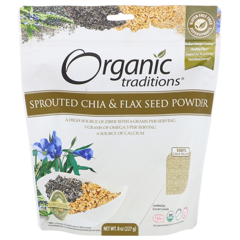 Sprouted Chia & Flax Seed Powder, 8 oz (227 g)