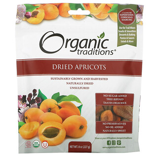 Organic Traditions, Dried Apricots, 8 oz (227 g)