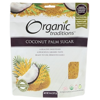 Organic Traditions, Coconut Palm Sugar, 8 oz (227 g)