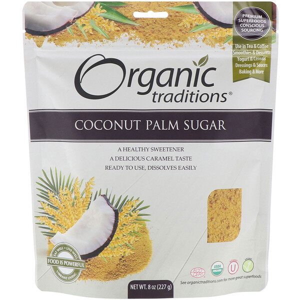 Coconut Palm Sugar, 8 oz (227 g)