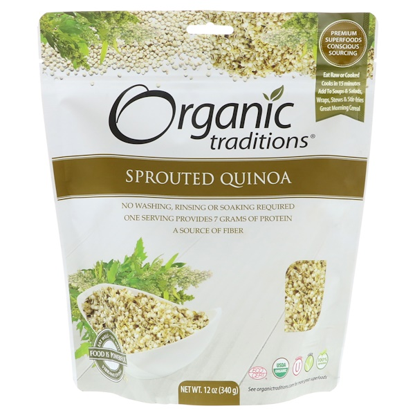 Organic Traditions, Quinua germinada, 12 oz (340 g)