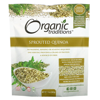 Organic Traditions, Sprouted Quinoa, 12 oz (340 g)