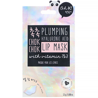Oh K!, Chok Chok, Plumping, Hyaluronic Acid Lip Mask, 1 Gel Lip Mask, 0.088 oz (2.5 g)
