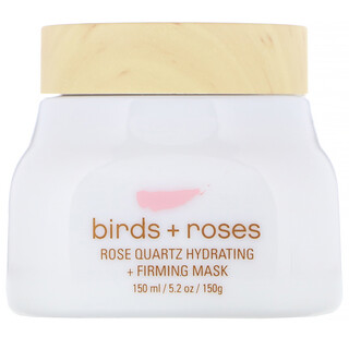 O'o Hawaii, Birds + Roses, Rose Quartz Hydrating + Firming Mask, 5.2 oz (150 g)