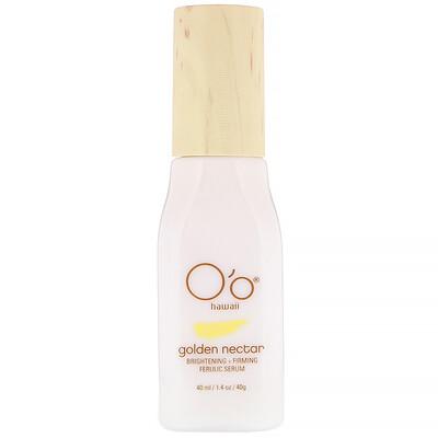 O'o Hawaii Golden Nectar, Brightening + Firming Ferulic Serum, 1.4 oz (40 ml)