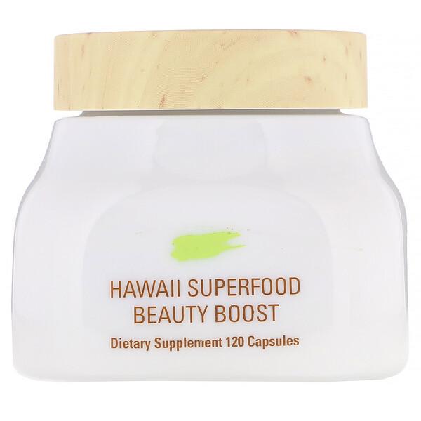 תוסף תזונה Beauty Boost עם מזונות-על מהוואי, 120 כמוסות