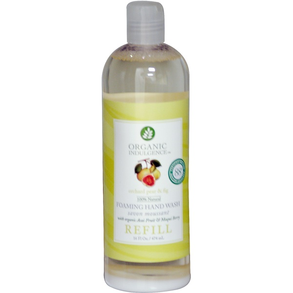 Organic Indulgence, Foaming Hand Wash, Refill, Orchard Pear & Fig,  16 fl oz (474 ml) (Discontinued Item)
