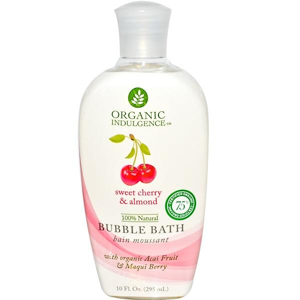 Organic Indulgence, Bubble Bath, Sweet Cherry & Almond, 10 fl oz (295 ml) (Discontinued Item)