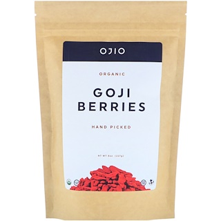 Ojio, Organic Goji Berries, Hand Picked, 8 oz (227 g)