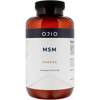 Ojio, MSM مسحوق، 16 أونصة (454 غرام)
