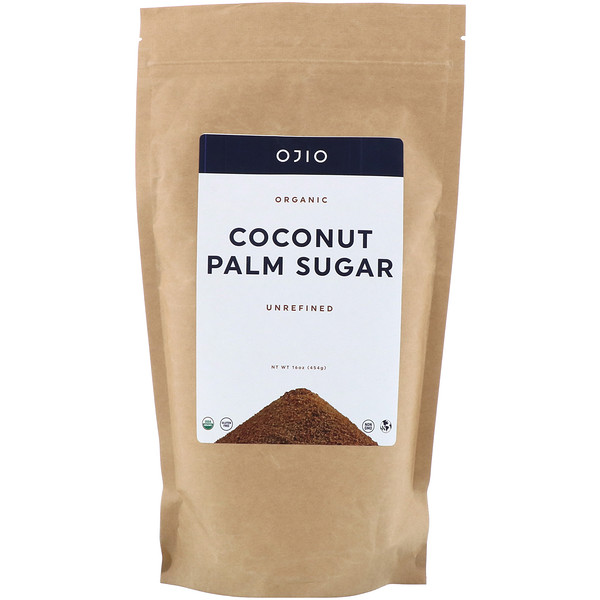 Ojio, Organic Coconut Palm Sugar, 16 oz (454 g)