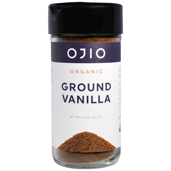 Ojio, Organic Ground Vanilla, 2 oz (56 g) (Discontinued Item)