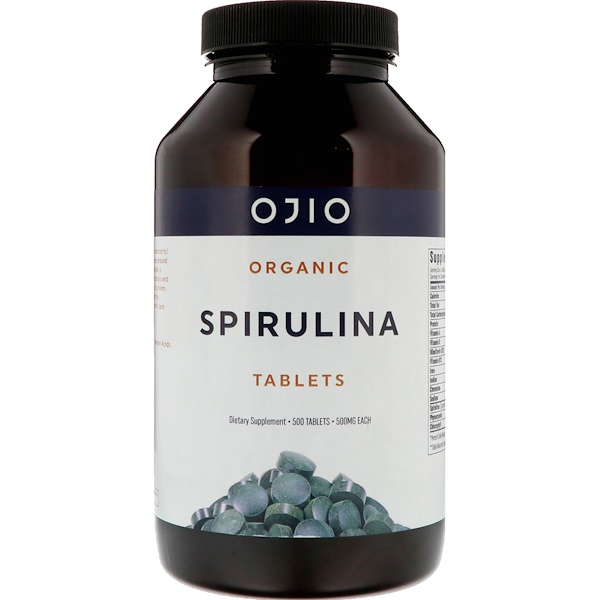 Organic Spirulina, 500 mg, 500 Tablets