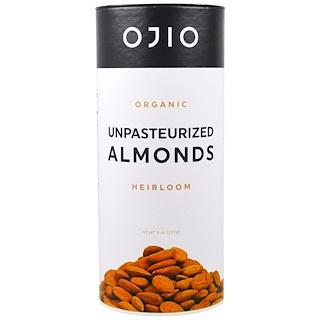 Ojio, Organic Unpasteurized Almonds, 8 oz (227 g)