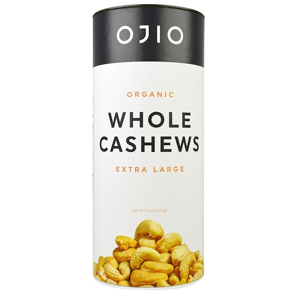 Ojio, Organic Whole Cashews, Extra large, 8 oz (227 g) (Discontinued Item)