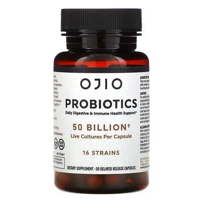Ojio Probiotics, 50 Billion, 30 Delayed Release Capsules