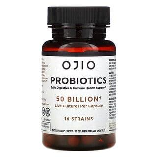 Ojio, Probiotics, 50 Billion, 30 Delayed Release Capsules