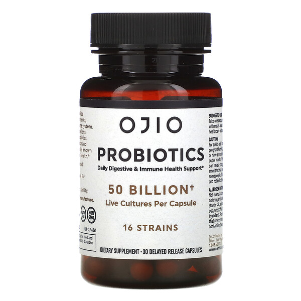 Probiotics, 50 Billion, 30 Delayed Release Capsules