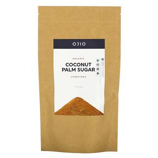 Ojio, Organic Coconut Palm Sugar, Unrefined, 12 oz (340 g)