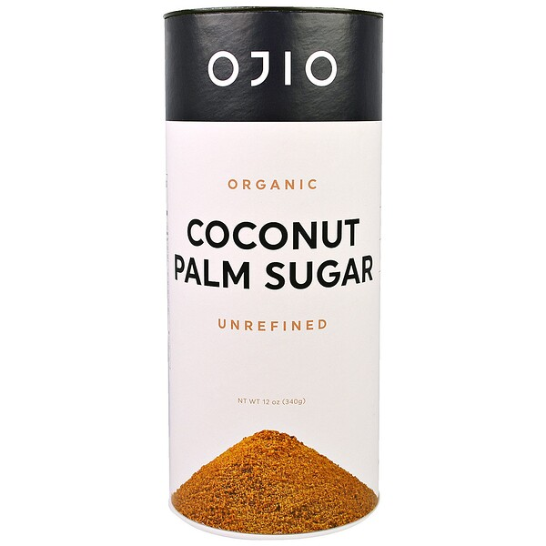 Organic Coconut Palm Sugar, Unrefined, 12 oz (340 g)