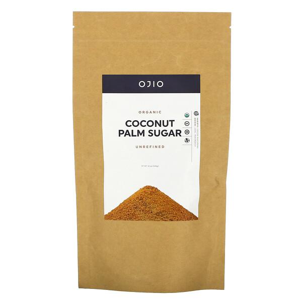 有机椰子糖,未加工,12盎司(340克)