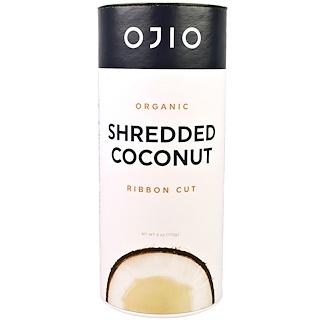 Ojio, Organic Shredded Coconut, Ribbon Cut, 6 oz (170 g)