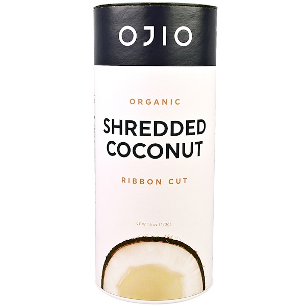 Ojio, Organic Shredded Coconut, Ribbon Cut, 6 oz (170 g) (Discontinued Item)