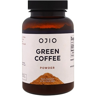 Ojio, Green Coffee Powder , 3.53 oz (100 g)