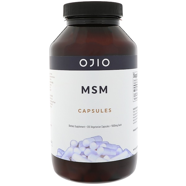Ojio, MSM Capsules, 1000 mg, 200 Vegetarian Capsules (Discontinued Item)