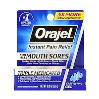 Triple Medicated, Мгновенное облегчение боли, Для всех видов боли во рту, 0,18 унц. (5,1 г) - фото