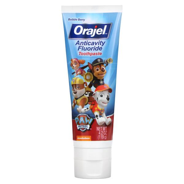 Paw Patrol Anticavity Fluoride Toothpaste, Bubble Berry, 4.2 oz (119 g)