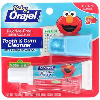 Orajel, Elmo Tooth & Gum Cleanser, 3-24 Months, Fluoride-Free, Fruity Fun, 0.7 oz (19.8 g)
