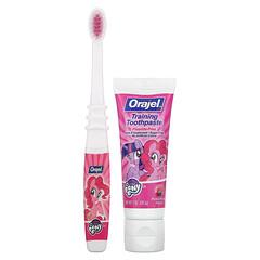 Orajel, My Little Pony 兒童訓練牙膏和牙刷,無氟,Pinkie Fruity,2 件套