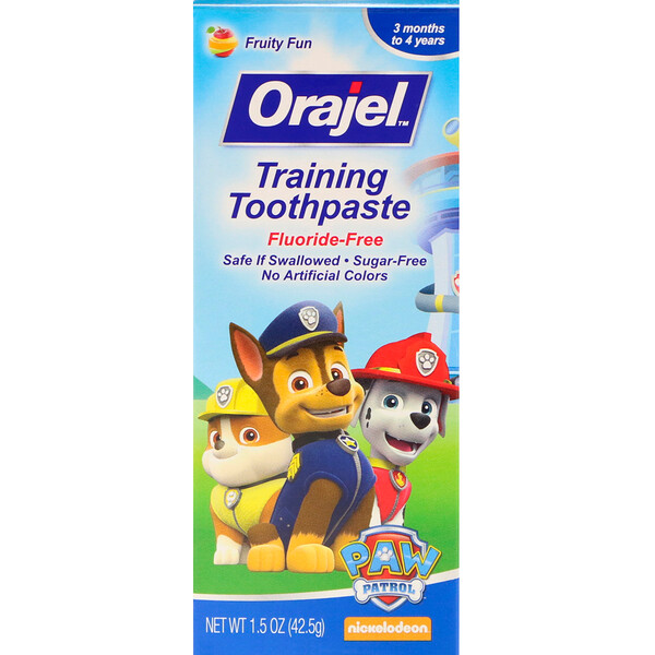 Paw Patrol Training Toothpaste, Fluoride Free, Fruity Fun Flavor, 1.5 oz (42.5 g)