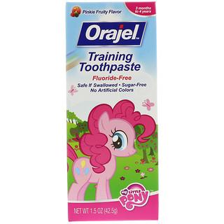 Orajel, معجون الأسنان لتدريب طفلي الصغير، خال من الفلورايد، طعم الفاكهة الزهري، 1.5 أوقية (45.5 غ)