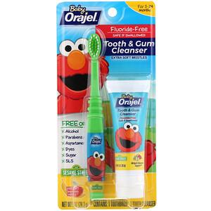Orajel, Elmo Tooth & Gum Cleanser, Fluoride-Free, 3-24 Months, Bright Banana Apple, 1 oz (28.3 g) отзывы