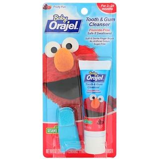 Orajel, Elmo Tooth & Gum Cleanser, Fruity Fun, 3-24 Months, 1 oz (28.3 g)