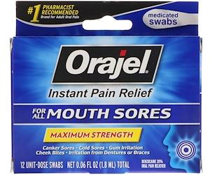 Orajel, Мгновенное обезболивание при всех оральных болях, максимальное действие, 12 тампонов, 0,06 ж. унц.(1,8 мл)