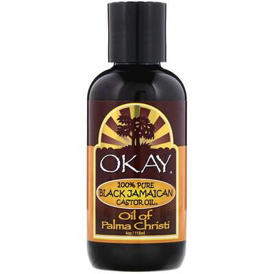 Купить Okay Pure Naturals 100% Pure Black Jamaican Castor Oil, 4 oz (118 ml)