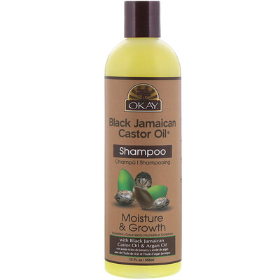Купить Okay Pure Naturals Black Jamaican Castor Oil, черное ямайское касторовое масло, шампунь, 355 мл (12 жидк.унций)
