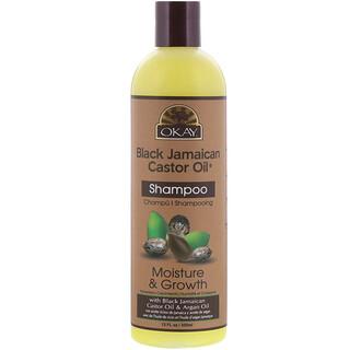Okay Pure Naturals, Black Jamaican Castor Oil، شامبو، 12 أونصة سائلة (355 مل)