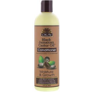 Okay Pure Naturals, Black Jamaican Castor Oil، بلسم، 12 أونصة سائلة (355 مل)