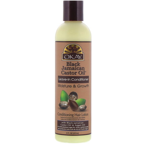 Okay, Black Jamaican Castor Oil, Leave-in Conditioner, 8 fl oz (237 ml)