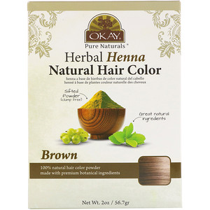 Okay Pure Naturals, Herbal Henna Natural Hair Color, Brown, 2 oz (56.7 g) отзывы
