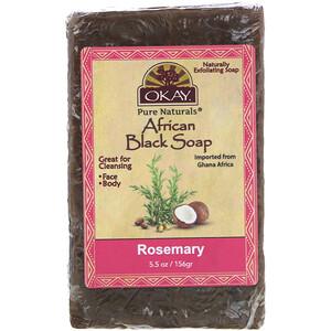 Okay Pure Naturals, African Black Soap, Rosemary, 5.5 oz (156 g) отзывы покупателей