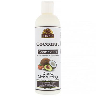 Okay Pure Naturals Deep Moisturizing Conditioner, Coconut, 12 fl oz (355 ml)
