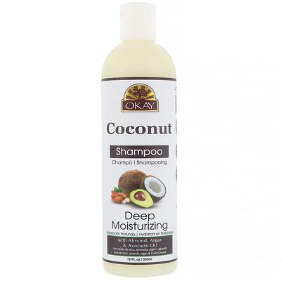 Okay Pure Naturals Deep Moisturizing Shampoo, Coconut, 12 fl oz (355 ml)