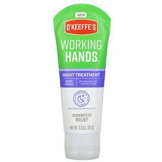O'Keeffe's, 工作用手、夜间护理、护手霜,3.0 盎司(85 克)